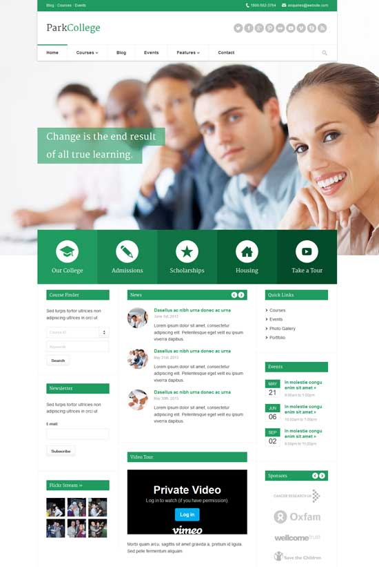 ParkCollege-Education-WP-Theme